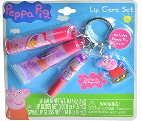 Peppa Pig 4 Pieces Lip Care Clip Set For Girls(+3 years)
