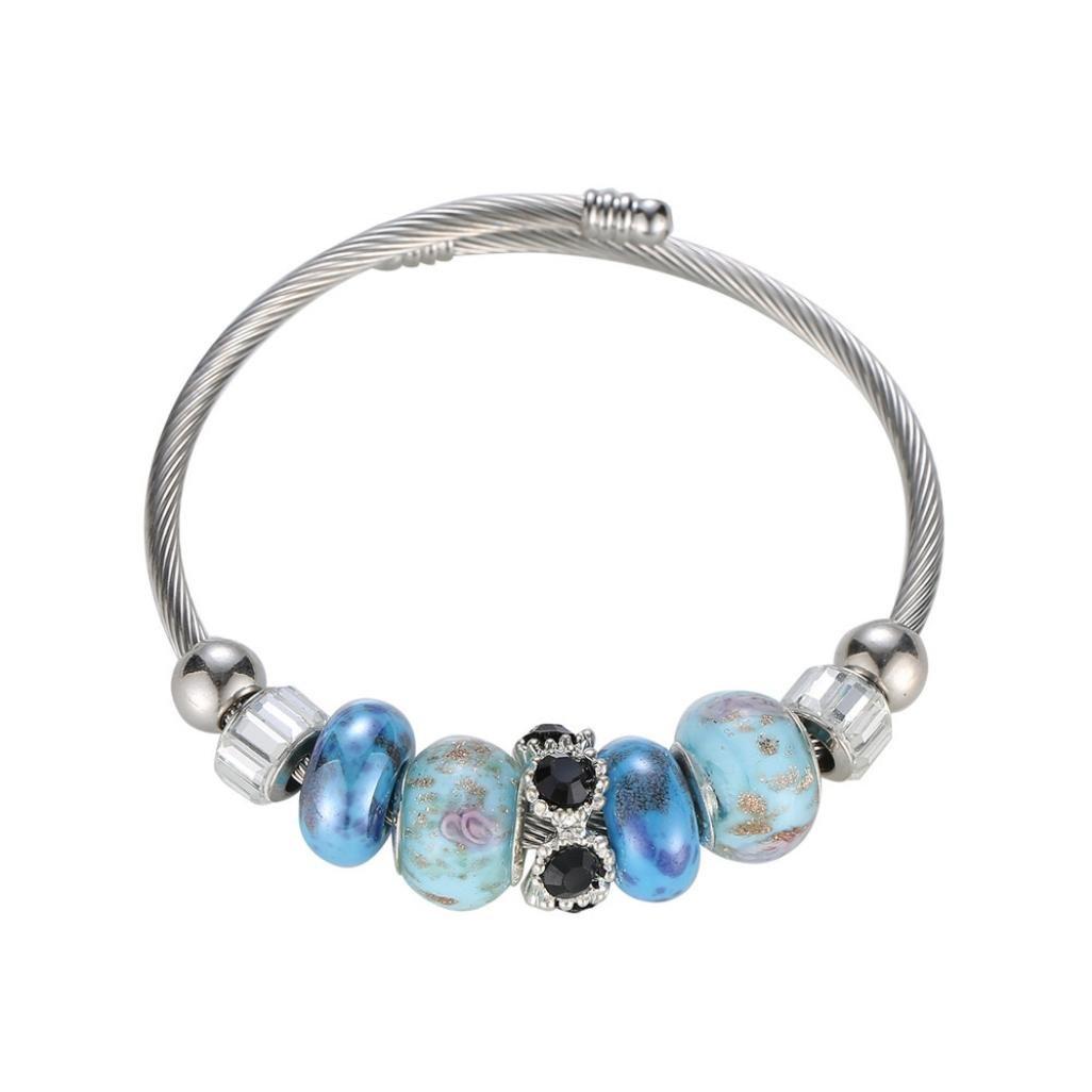 Paolian Femme Bracelet Perlé Acrylique Bracelet chaîne délicate Perle colorée 123 SB-111
