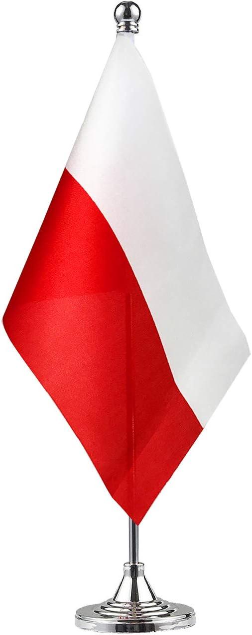 GentleGirl.USA Poland Flag Poles Flag Table Flag,Desk Flag,Office Flag,International World Country Flags Banners,Festival Events Celebration,Office Decoration,Desk,Home Decoration