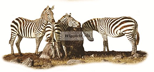 8 Inch Zebra Zebras Jungle Animals African Safari Africa Removable Peel Self Stick Adhesive Vinyl Decorative Wall Decal Sticker Art Kids Room Home Decor Girl Boy Children 8x4 inch tall