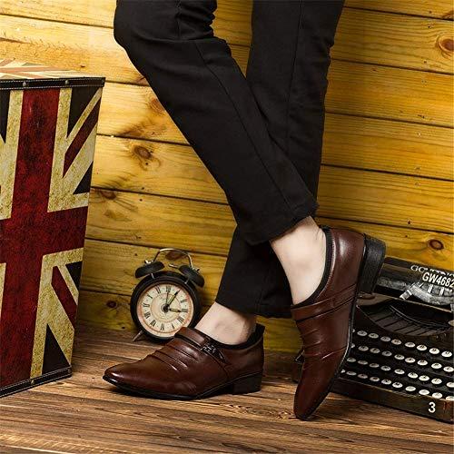 Invernali Cuoio Marrone Derby Matrimonio Uomo Sneakers Classica Oxford Casual Marrone Eleganti 38 Scarpe Vintage Bianche Moda Basse Pelle 48 Nere nHt1WnAB