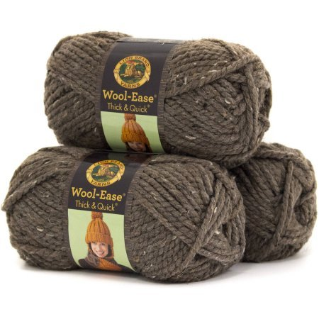 Lion Brand Wool Ease Thick and Quick Yarn, Pack of 3 (Barley) - Quick Yarn Barley