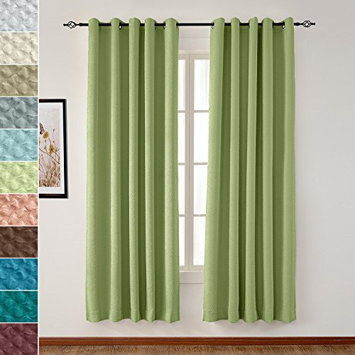 TWOPAGES Extra Wide Curtain Blackout Grommet 120