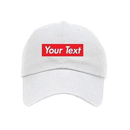 93965f2e0b50f Amazon.com: Parazon Custom Personalized Embroidered Text in Red Box ...