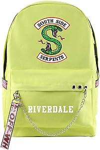 Riverdale South Side Serpents Backpack School Bag Laptop Backpack Cool Zip Backpack