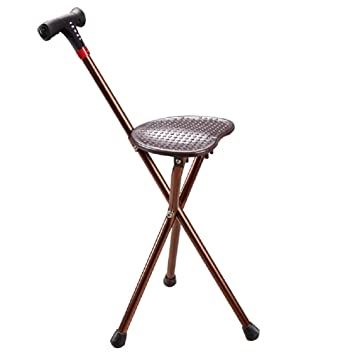 GAOJIAN Chair Crutches Old Man Aluminum Multi Function Alarm Charging Radio  With Light Chair Walking