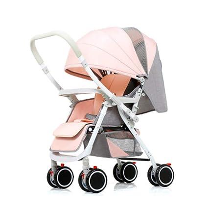 Cochecito de bebé, carretilla de cuatro ruedas, plegable y ...