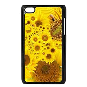 Generic Cell Phone Case For Ipod Touch 4 case Blooming Sunflower Pattern