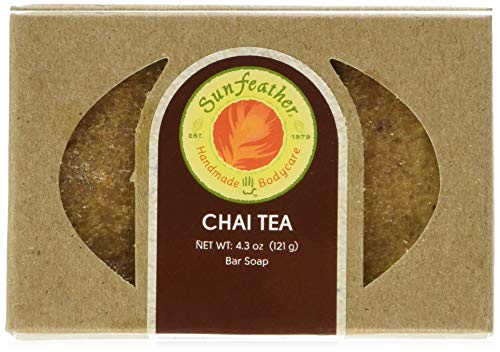 SunFeather Bar Soap, Chai Tea, 4.3 Ounce