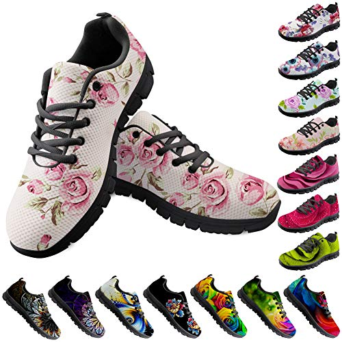 Bigcardesigns Fashion Pink Floral Womens Country Road Running Shoes Athletic Sports Jogging Sneakers for Ladies Go Easy Size 8 B(M) Women-EUR 38]()