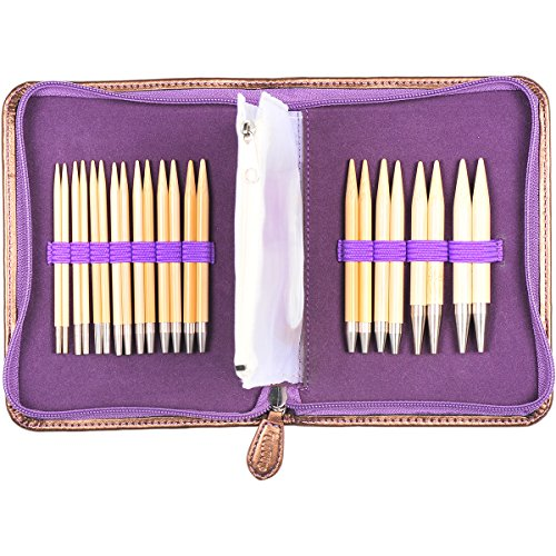 Tulip Needle Company TP1195 Carry C Interchangeable Bamboo Knitting Needle Set by Tulip Needle Company