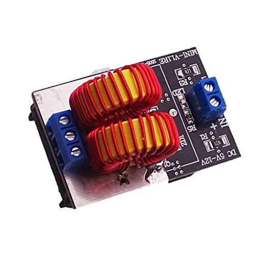 MagiDeal 120W ZVS Induction Heating Board High Voltage Generator Heater Coil DC5-15V