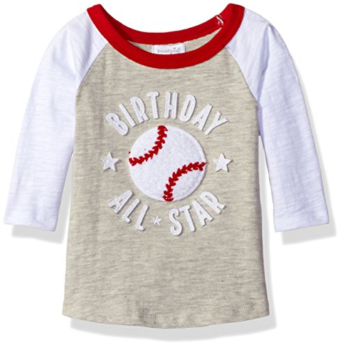 Mud Pie Baby Boys' Raglan T-Shirt, Birthday Baseball 1st, 12-18 Months 1st Birthday Baseball