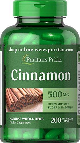 Puritans Pride Cinnamon mg 200 Capsules