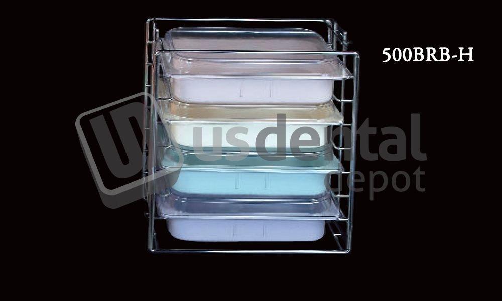 PLASDENT - Tub & Lid Rack - # 500BRB-H - Color Chrome - Eac 001-500BRB-H Us Dental Depot