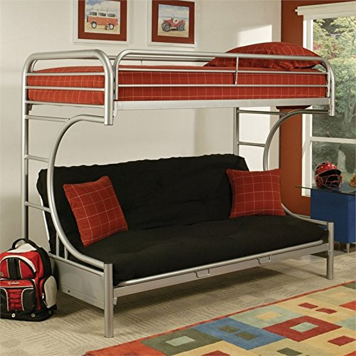 ACME Furniture Eclipse Bunk Bed in Silver