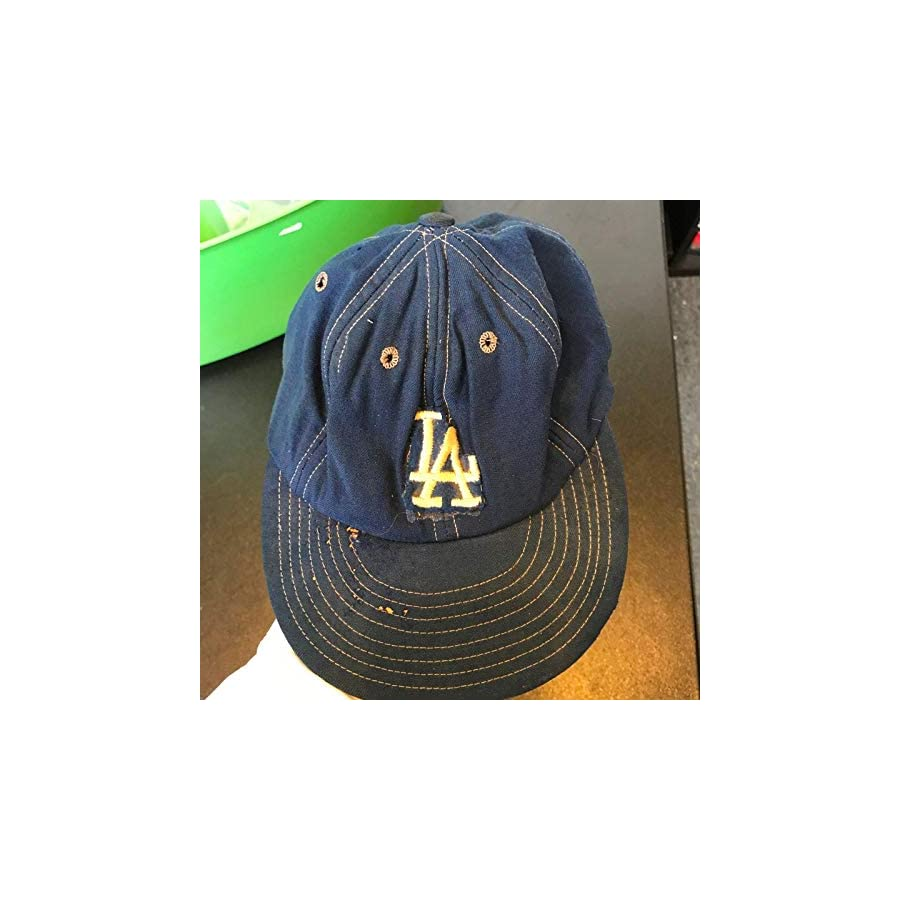Vintage 1970's Los Angeles Dodgers Game Used Hat Cap Wilson Size 7 1/8 Game Used MLB Hats