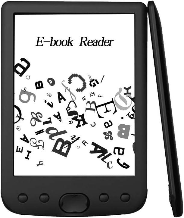 Fesjoy BK-6025 Lector de Libros electrónicos portátil Tinta electrónica de 16 GB Lector electrónico multifunción de 6 Pulgadas 800 * 600 Pantalla de visualización de Alta resolución 300 dpi