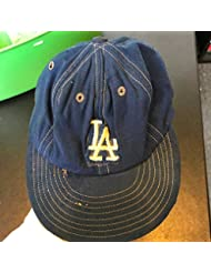 bc1c3e388 Vintage 1970's Los Angeles Dodgers Game Used Hat Cap Wilson Size 7 1/8 -