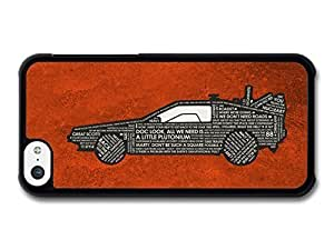 AMAF ? Accessories Back To The Future Car Marty McFly Doc Quotes Orange Background case for iPhone 5C