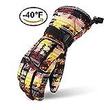 Ski Gloves, Lemonworld Snow Warm Gloves for Men Women Kids, Windproof& Waterproof Breathable Gloves for Winter Outdoor Cycling Snowboard Sports