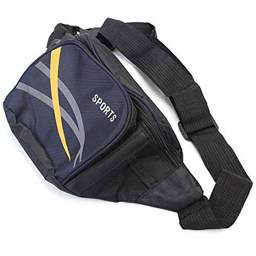 Pinzhi Herren Zipper Nylon Taille Pack Outdoor Reise Einkaufen Bumbag Schulter Tasche
