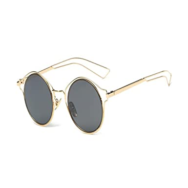 04203f3bcb9eca Zhuhaixmy Fashion Classic Ladies Casual Metal Frame Mirror Sunglasses Cat  Eye Glasses UV Protection  Amazon.co.uk  Clothing