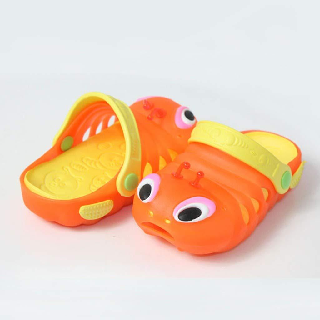SUImeito Cartoon Sandals Boys Girls Shoes Cute Beach Slippers Flip Shoes Unisex Caterpillar Simulation Non-Slip Shoes