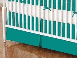 SheetWorld - Crib Skirt (28 x 52) - Teal Jersey Knit - Made In USA