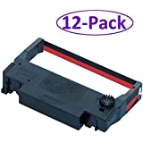 Bixolon (GRC-220BR) 12-Pack KD02-00057A Black/Red Ribbon Cartridge for SRP-275 & SRP-270