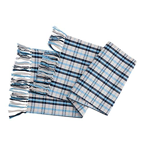 Table Runners Fringed Table Flag, Blue for Family Party Mat Birthday Wedding Supplies Coffee Mat Hotel Bedding (Size : 35×200cm)