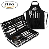 outdoor bbq set - BBQ Grill set 21 Piece Utensil Set, Heavy Duty Stainless Steel Tools, luxurious and essential tools for barbequing, Professional Grilling Accessories for the Expert, Complete Outdoor Kit