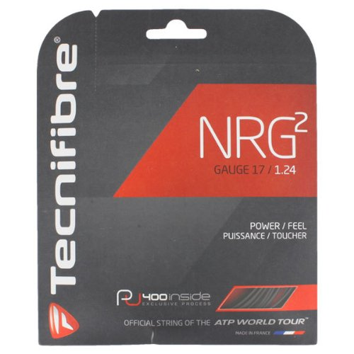Hybrid Tennis String - Tecnifibre NRG2 17g (1.24) Black Tennis String - 40 foot pack