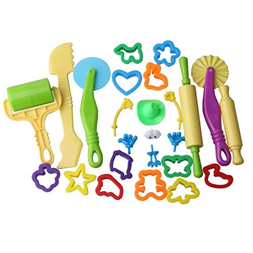 Inxens Playdough Tools for Kids Play Dough Molds Clay Tools Set of 25