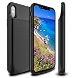 Newdery XDL-602M iPhone X/XS battery case 6000mAh Slim Extended Rechargeable Magnetic Mental Charging Case with Support Lightning Headphones for iPhone X/XS Battery Case - Black