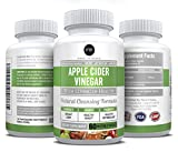 Natural Apple Cider Vinegar Supplement : 1250mg 60 Vegetable Capsules – Weight Loss – Healthy Metabolism – Detox For Blood Pressure & Diabetes Support – Made In USA - GMO & Dairy Free