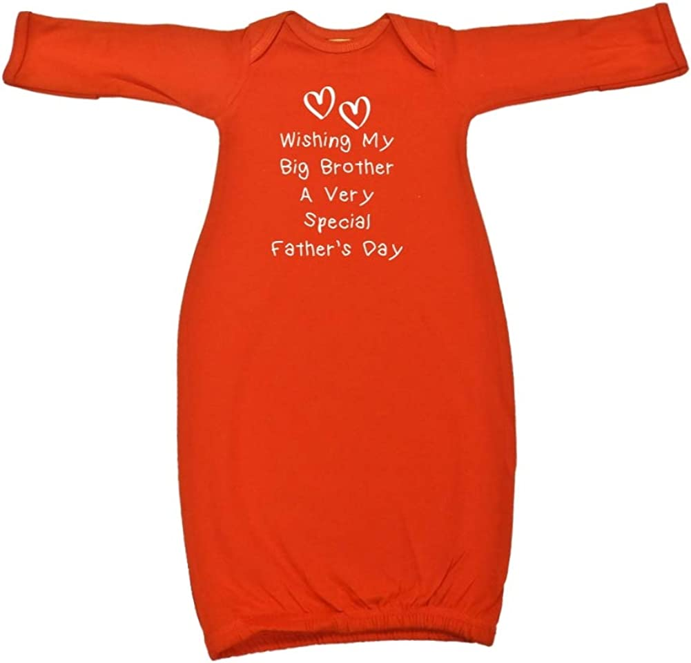 Wishing My Big Brother A Very Special Fathers Day Baby Cotton Sleeper Gown