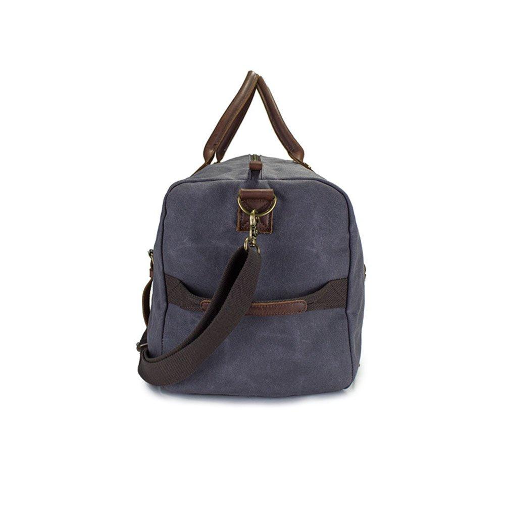 Yangjiaxuan Men Canvas Travel Bag Waterproof Casual Crossbody Bag Shoulder Bags Fitness Bag Weekend Event Package Color : Gray