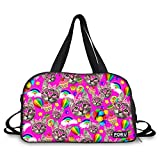 FOR U DESIGNS Cute Cat Style Travel Gym Shoulder Duffel Bag for Girls Women Review