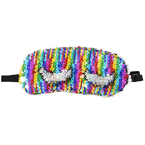 ICOSY Eye Mask Mermaid Sleep Mask Magic Sequin Sleeping Eyeshade Adjustable Strap Blindfold Sleeping Eye Mask for Kids Adults (Mask Eye Glitter)