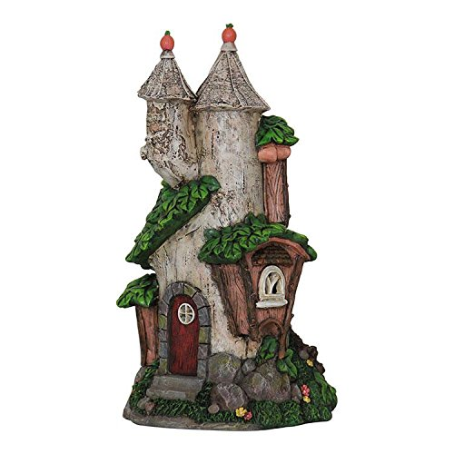 Miniature Fairy Garden Solar Silver Birch House
