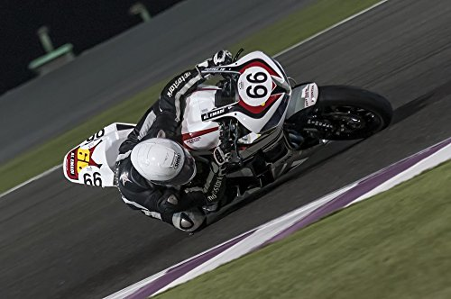 Home Comforts Print on Metal Losail 600cc Motorcycle Superstock Qatar Racing Print 12 x 18. Worry Free Wall Installation - Shadow Mount is Included. from Home Comforts