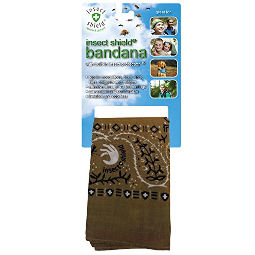 Insect Shield Bandana, Olive, One Size