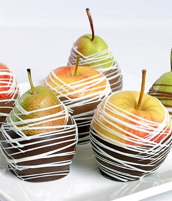 From You Flowers - Chocolate Covered Apples and Pears - 6 pieces