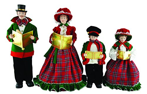 Santa's Workshop 3150 Christmas Day Carolers Figurine, Set of 4, 15