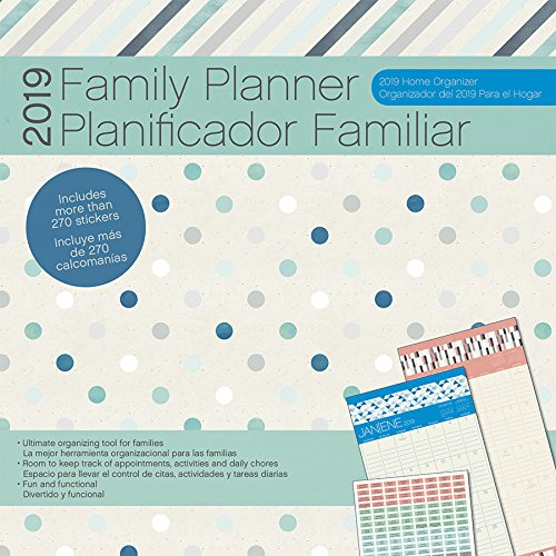 2019 Family Planner/Planificador familiar (w/bonus sticker sheet) Wall Calendar (English and Spanish Edition)