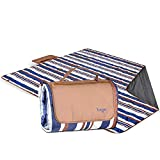 YUNGGER Picnic and Beach Blanket with Pouch-Machine Washable EXTRA 4X Large-Protects Your Family and Toddler from Wet Grass or Sand at the Park, Outside Concert, Playground, at the Kids Sport Practice