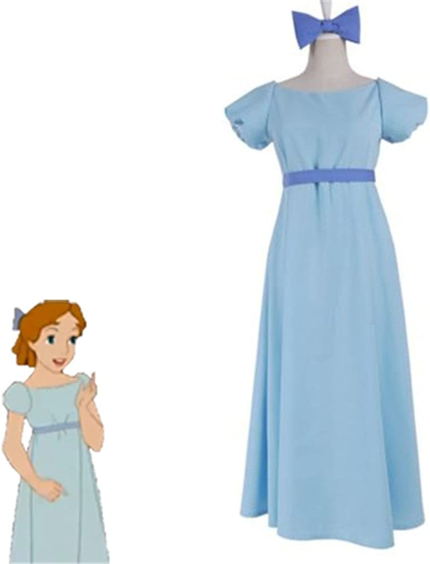 Película Peter Pan Wendy Rachael disfraz de cosplay azul vestido ...