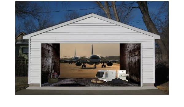 Efecto 3d para puerta de garaje Billboard Diseño Decor Naranja 7 x ...