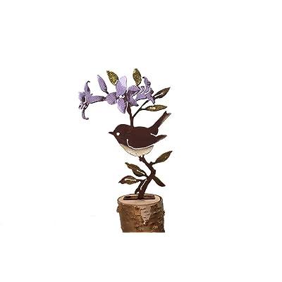 Elegant Garden Design Wren on Rhododendron - Painted: Home & Kitchen